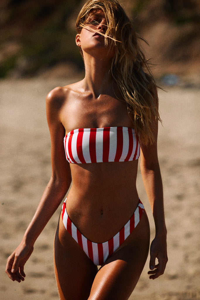 BASIC BANDEAU TOP - BOLD RED STRIPE