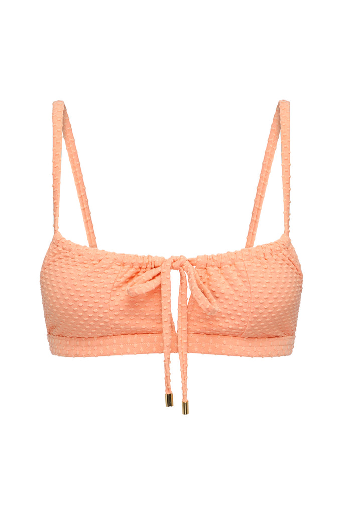 GATHERED BRALETTE - APRICOT