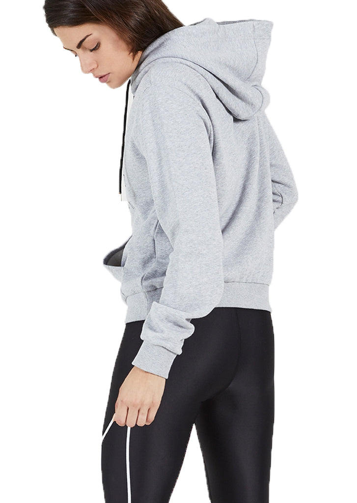 RUN UP HOODIE - GREY MARLE