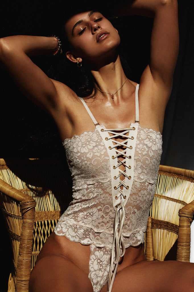 SPINSTER BODYSUIT - NUDE BEACH