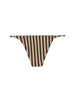 STRING BOTTOM - TAN BLACK STRIPE