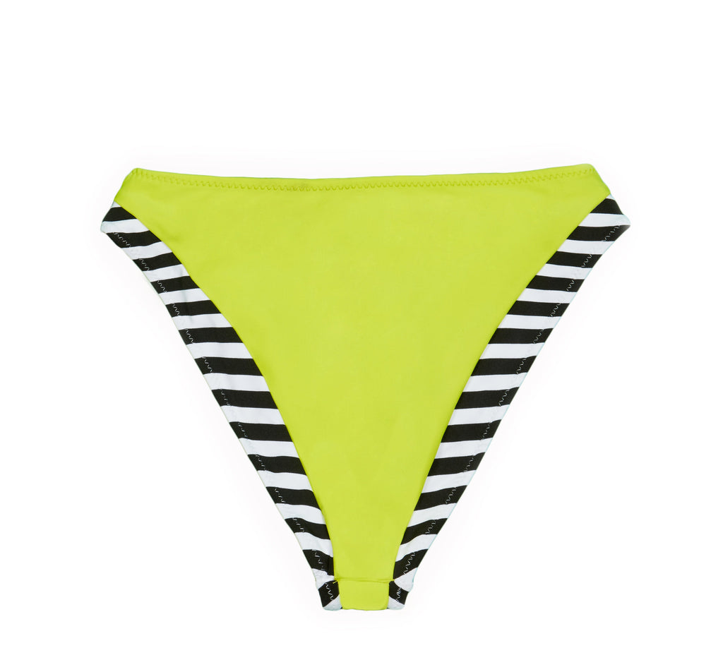 THE DEVINE BOTTOM - BLACK WHITE STRIPE LIME