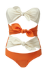 TRIPLE POPPY ONE PIECE - ORANGE CREPE