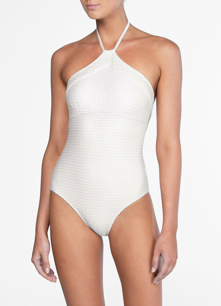 HALTER ONE PIECE - WICKER