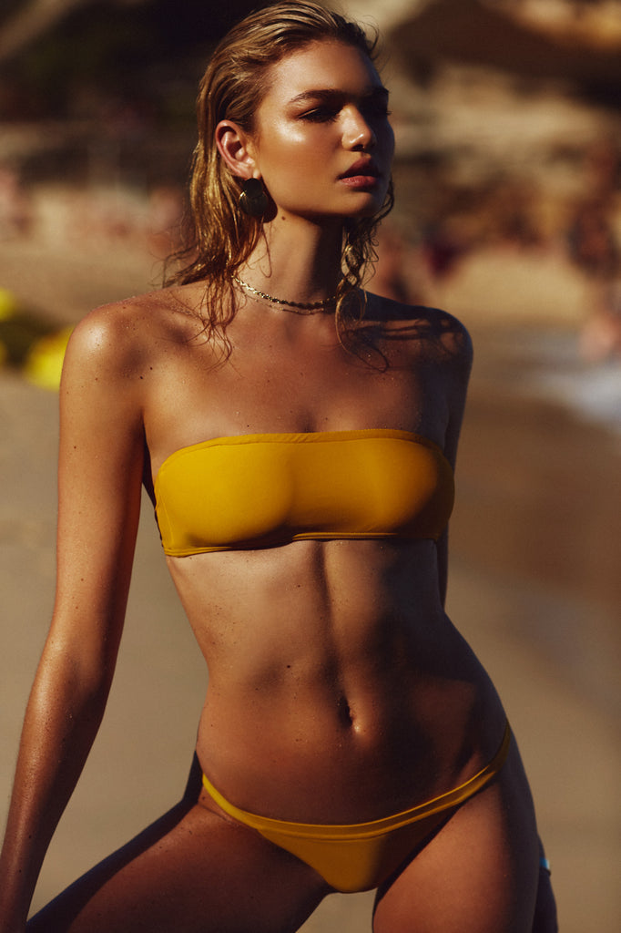 BASIC BANDEAU TOP - YELLOW