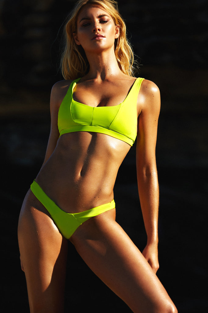 SUTTON BRALETTE TOP - LIME