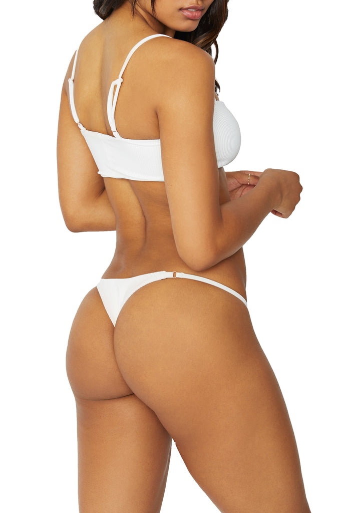 SCARLETT RIBBED BOTTOM - WHITE