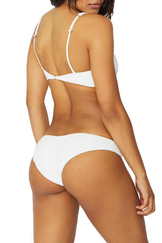 ALANA RIBBED BOTTOMS - WHITE