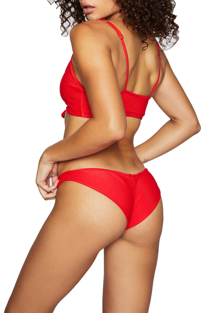 GREER RIBBED BOTTOM - RED