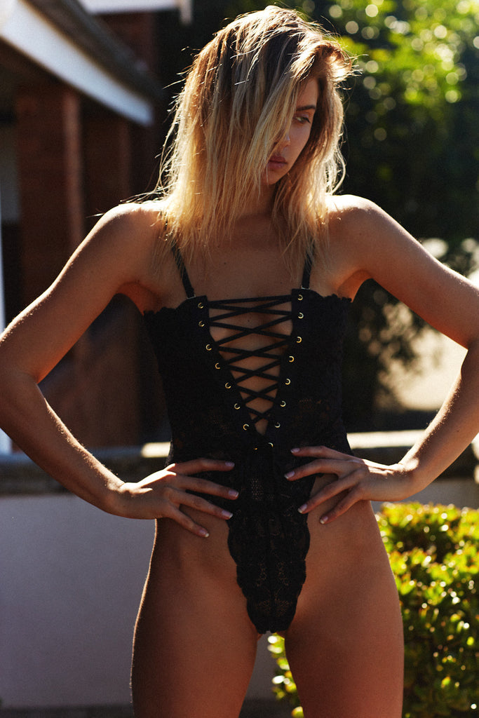 SPINSTER BODYSUIT - NOIR