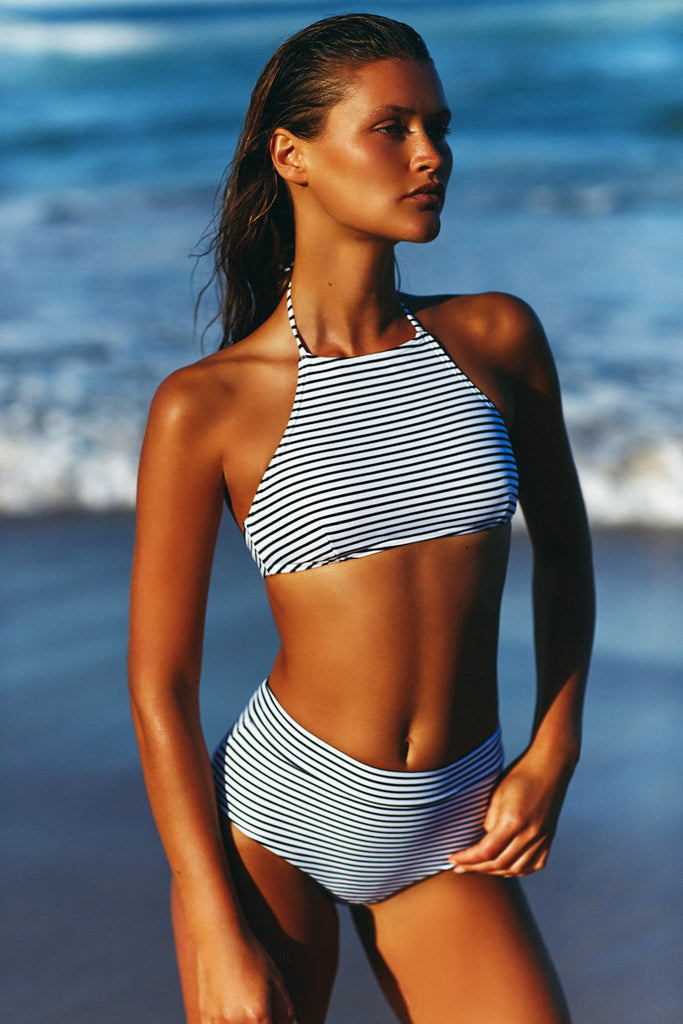 HALTER NECK TOP - STRIPE