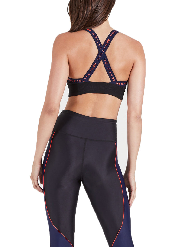 OVERSHOT SPORTS BRA - BLACK