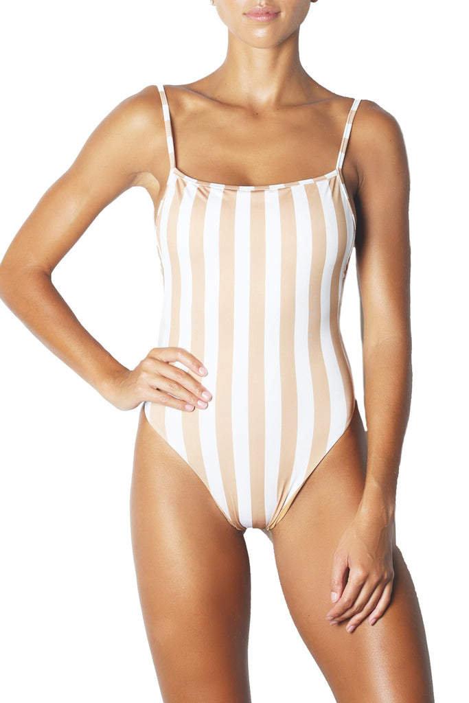 THE ONE PIECE - WHITE NUDE STRIPE