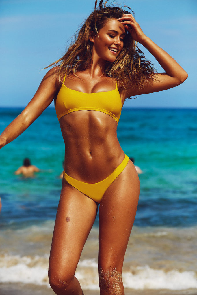 e556758a941af BASIC CROP TOP - YELLOW | INC SWIM | IT'S NOW COOL