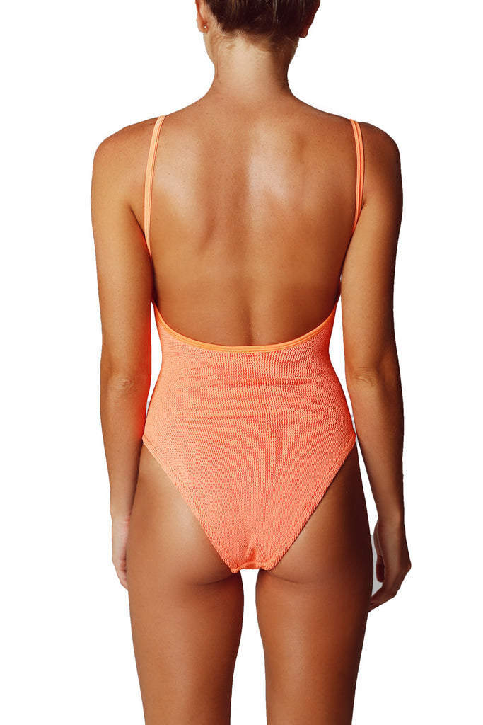 STRAP SWIM ONE PIECE - ORANGE