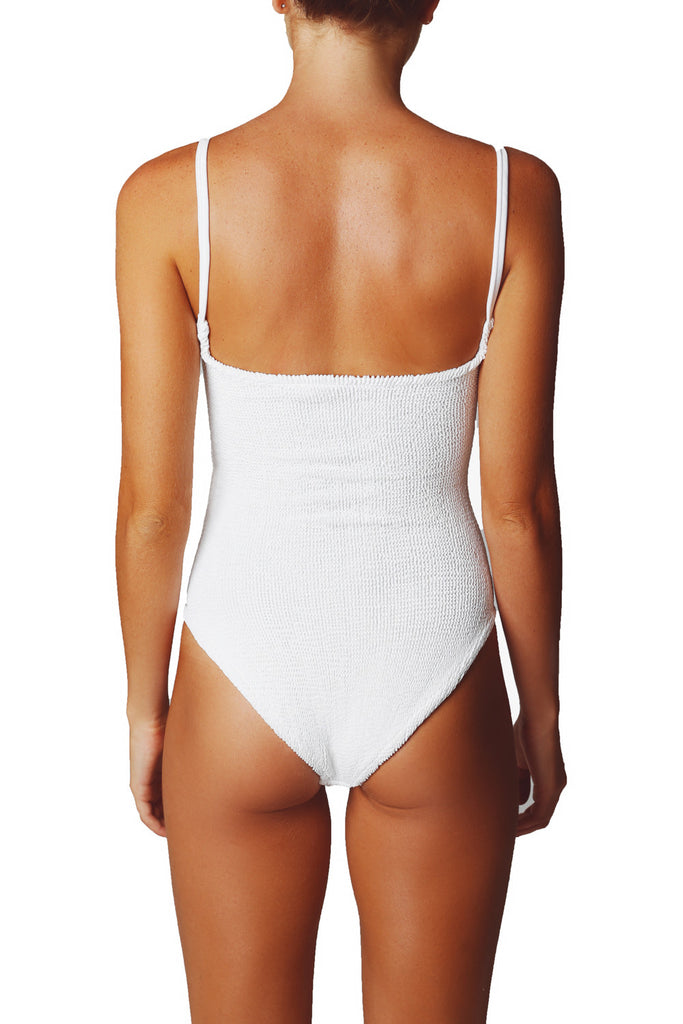 Josephine BOW ONE PIECE - White