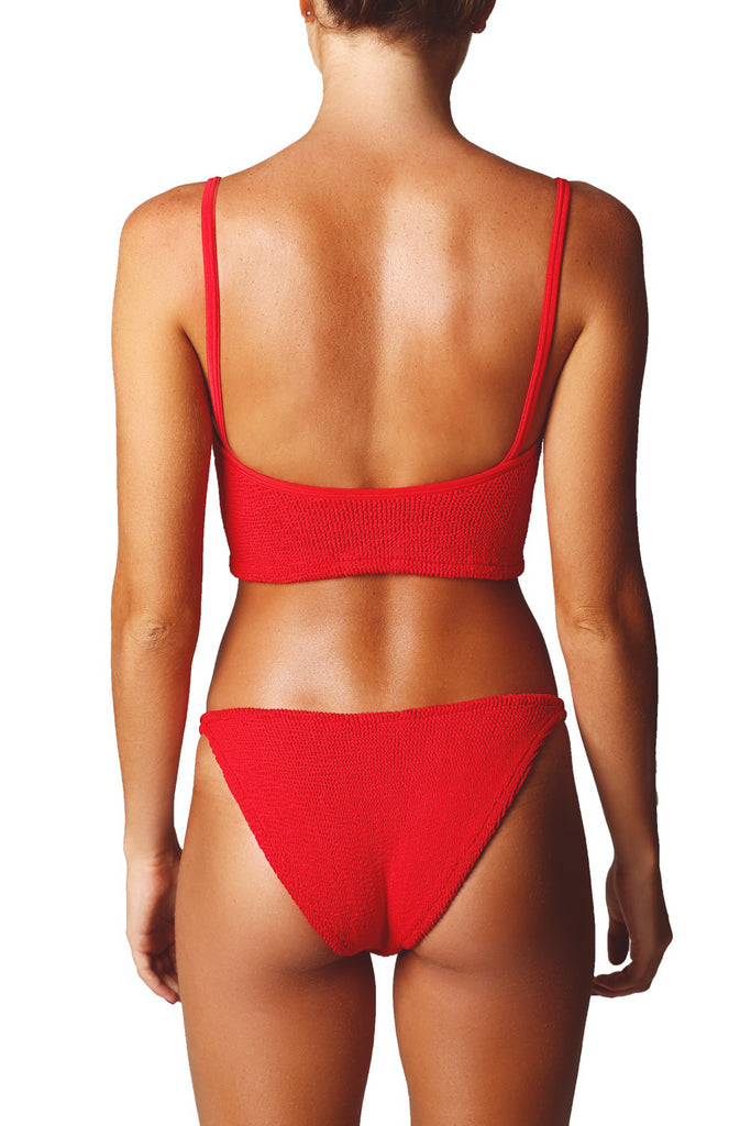 STRAP BIKINI SET - RED