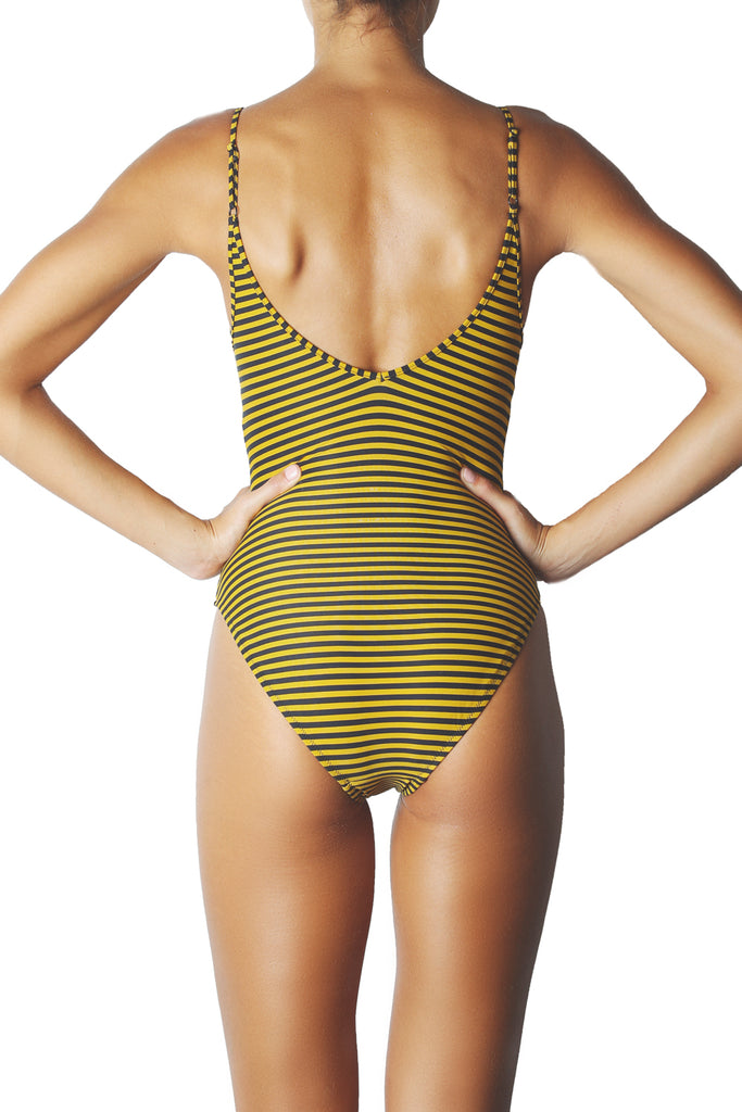 STRIPE ONE PIECE - GOLD