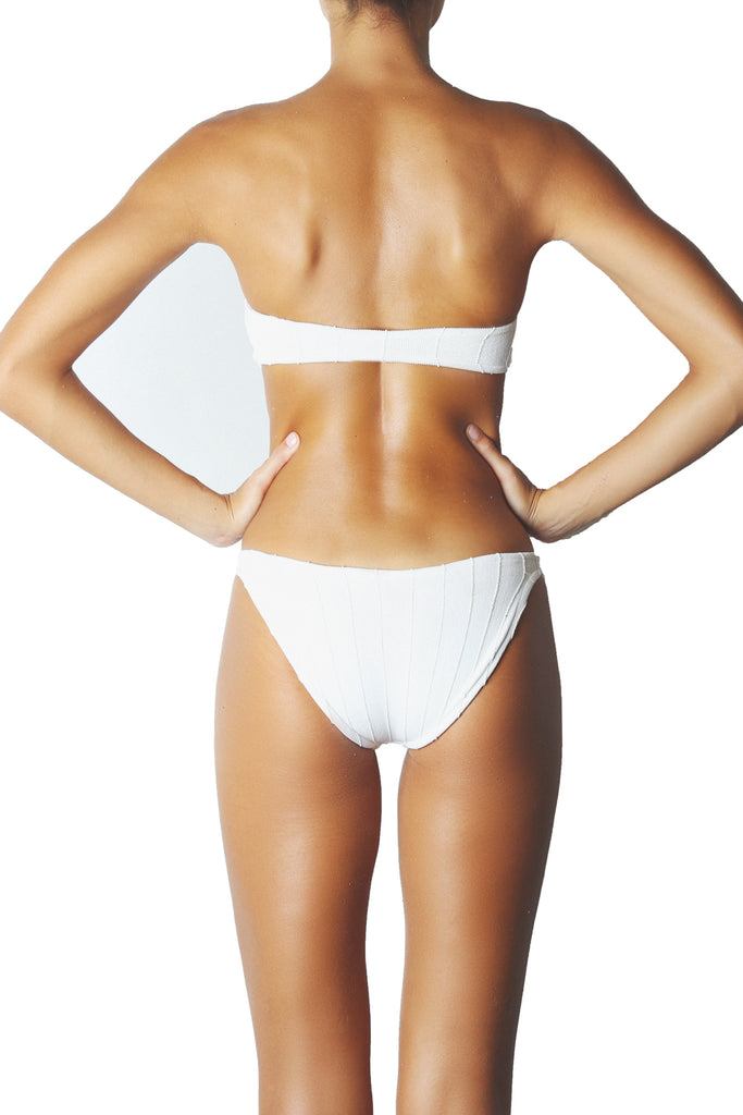 NILE MIAMI BANDEAU BIKINI SET - WHITE