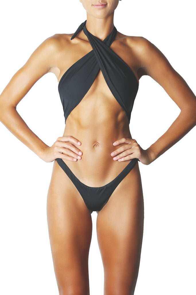 SHOWPONY ONE PIECE - BLACK