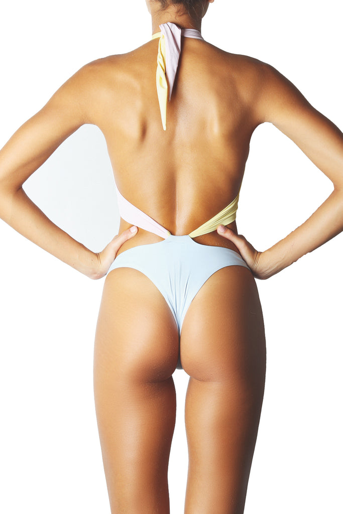 SHOWPONY ONE PIECE - 3 TONE PASTEL