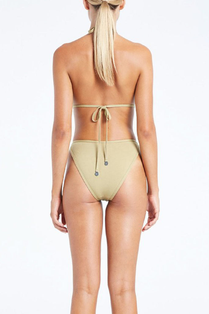 DAWN HIGH CUT OUT ONE PIECE - OLIVE