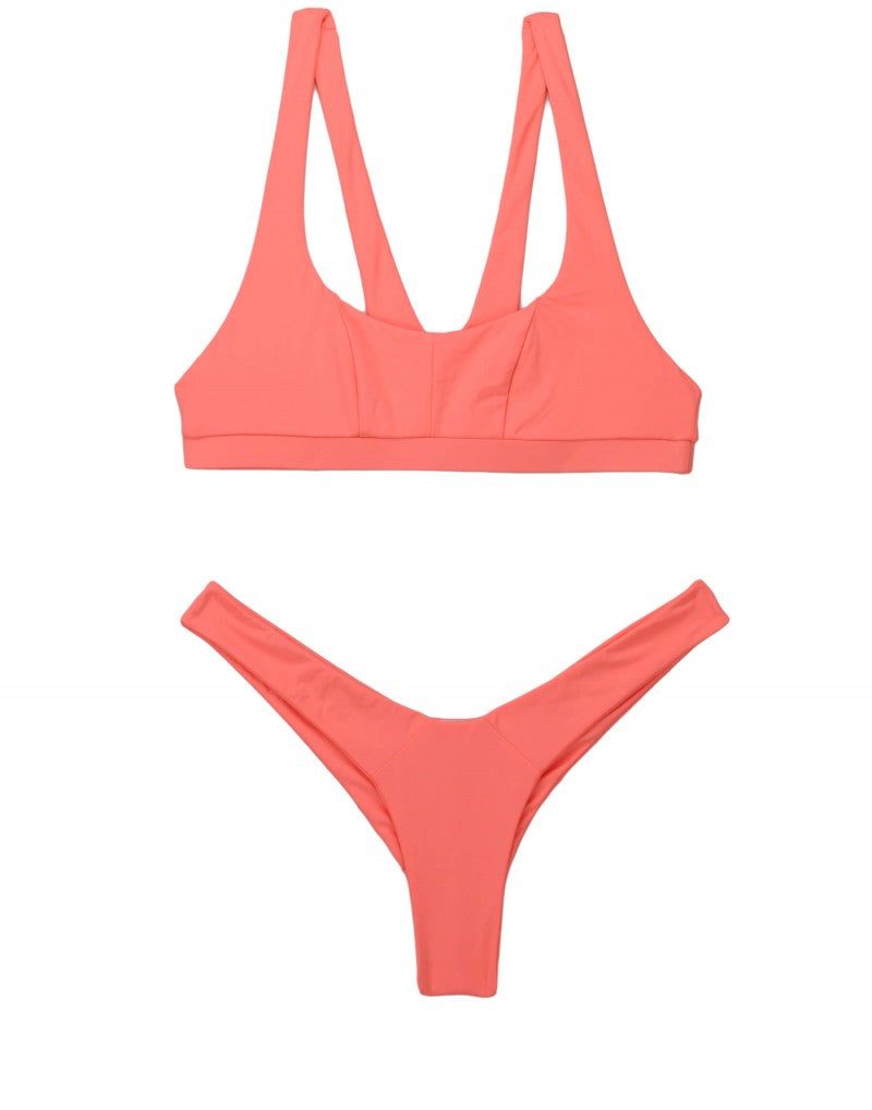 SUTTON BRALETTE TOP - CORAL