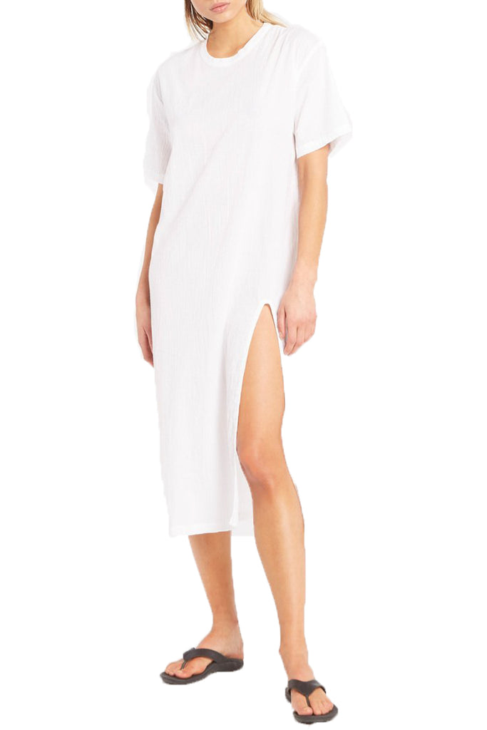 ESSENTIAL T SHIRT DRESS - WHITE