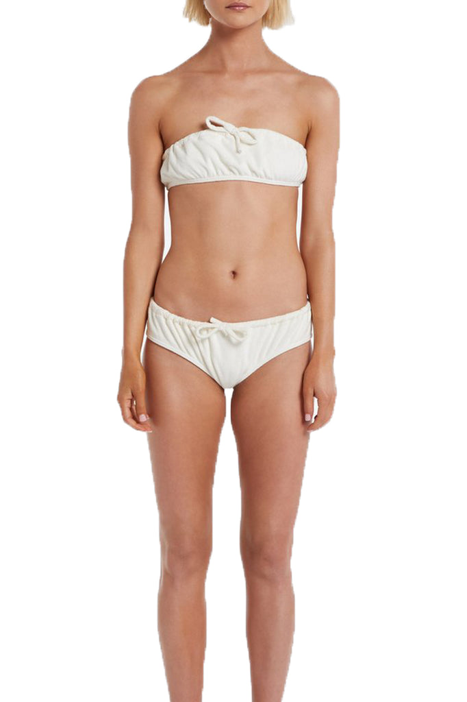 TERRY BANDEAU BIKINI SET - CREAM