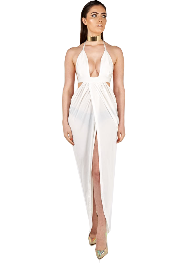 Soraya Bandage Beach Cover-Up in white
