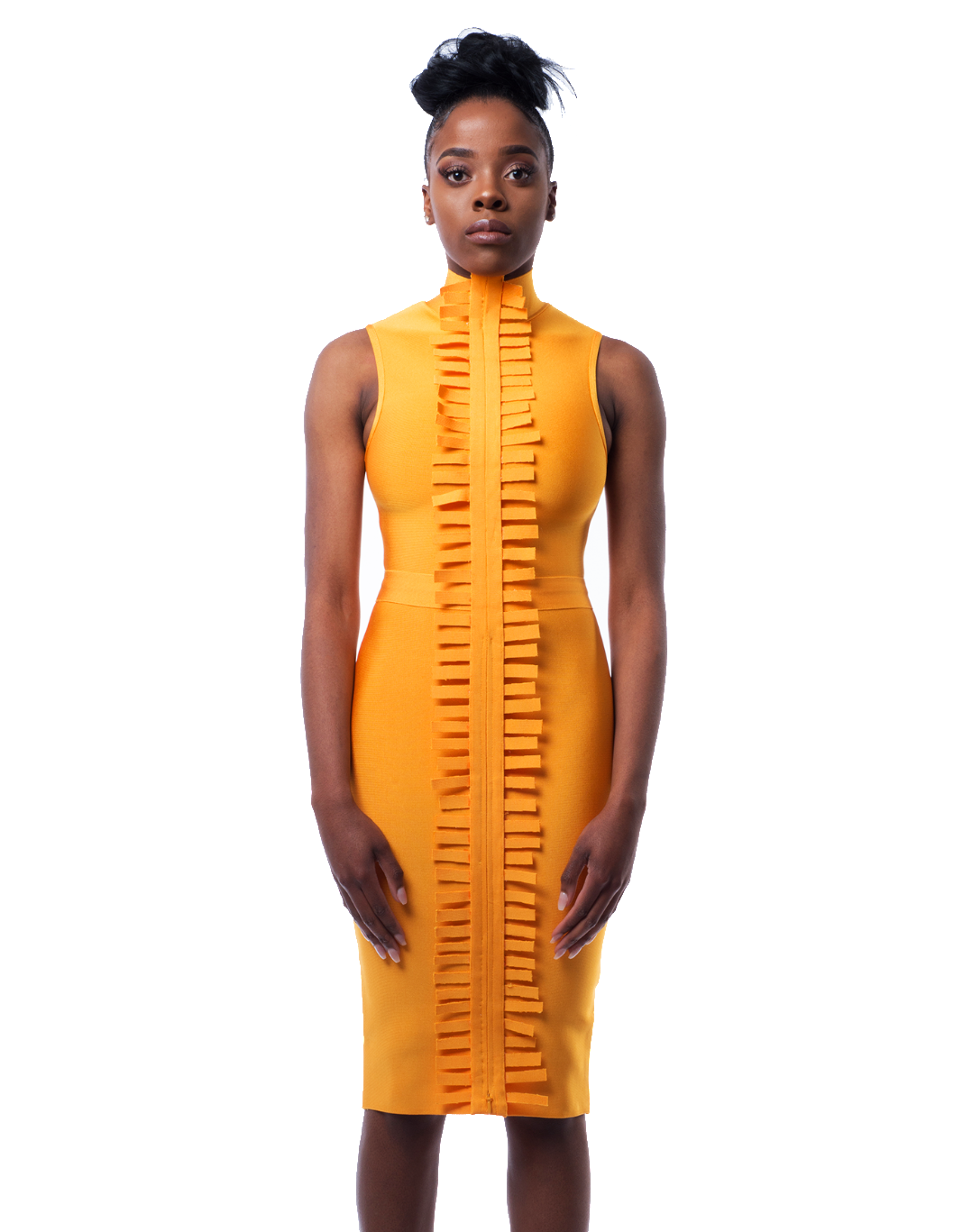 Avanti Midi dress in Saffron