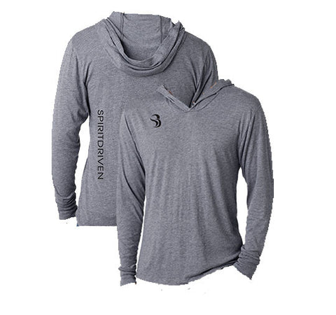 SPIRITDRIVEN® Men's Heathered Long Sleeve Shirt with Hood