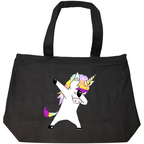 Dabbing Unicorn In a Classic Dab Pose Shirt Gift Idea - Fashion Zip Tote Bag
