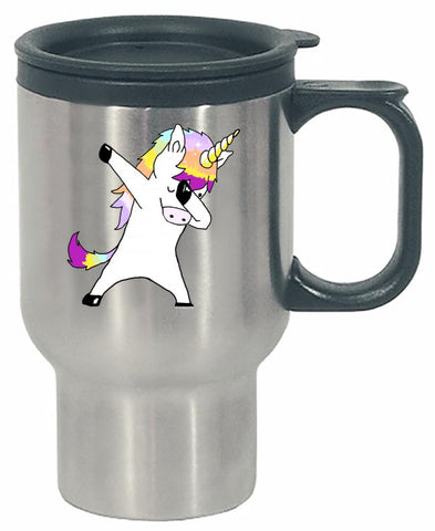 Dabbing Unicorn In a Classic Dab Pose Shirt Gift Idea - Stainless Steel Travel Mug