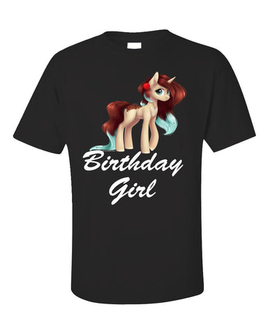 Unicorn Birthday Girl Shirt - Gift Idea for Birthday Outfit - Unisex T-Shirt
