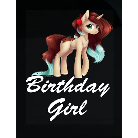 Unicorn Birthday Girl Shirt - Gift Idea for Birthday Outfit - Transparent Sticker