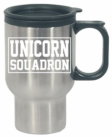Unicorn Squadron Shirt - Perfect Surprise Present Ideas - Stainless Steel Travel Mug