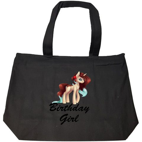 Unicorn Birthday Girl Shirt - Gift Idea for Birthday Outfit - Fashion Zip Tote Bag