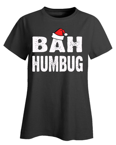 Bah Humbug Cheap Ugly Christmas Xmas Sweater - Ladies T-Shirt