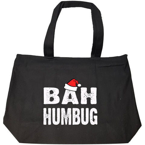 Bah Humbug Cheap Ugly Christmas Xmas Sweater - Fashion Zip Tote Bag