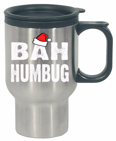 Bah Humbug Cheap Ugly Christmas Xmas Sweater - Stainless Steel Travel Mug