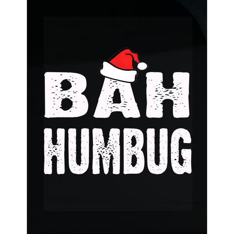 Bah Humbug Cheap Ugly Christmas Xmas Sweater - Transparent Sticker