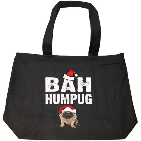 Bah Humpug Cheap Ugly Christmas Xmas Sweater - Fashion Zip Tote Bag