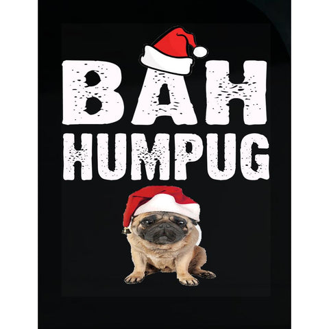 Bah Humpug Cheap Ugly Christmas Xmas Sweater - Transparent Sticker
