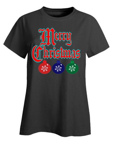 Merry Christmas Ugly Cheap Xmas Sweater - Ladies T-Shirt