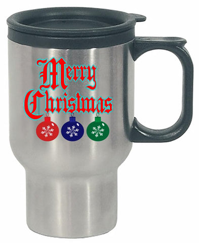 Merry Christmas Ugly Cheap Xmas Sweater - Stainless Steel Travel Mug