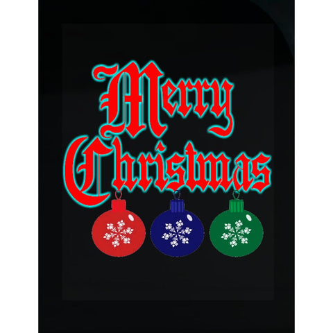 Merry Christmas Ugly Cheap Xmas Sweater - Transparent Sticker
