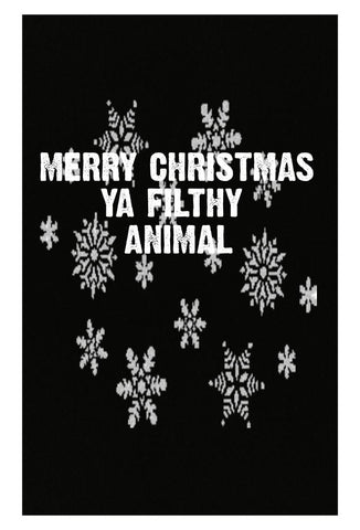 Merry Christmas Ya Filthy Animal Ugly Cheap Xmas Sweater - Poster