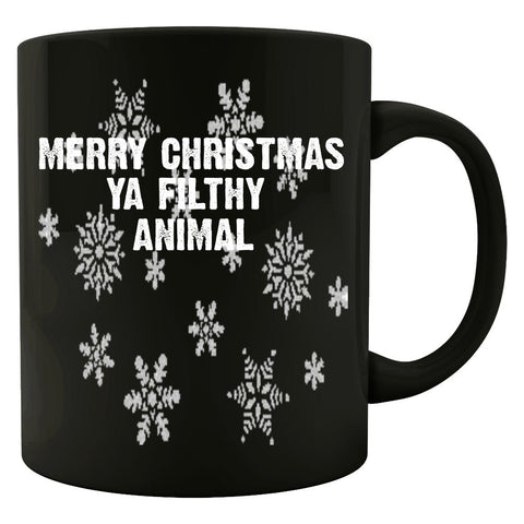 Merry Christmas Ya Filthy Animal Ugly Cheap Xmas Sweater - Colored Mug