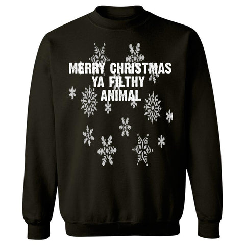 Merry Christmas Ya Filthy Animal Ugly Cheap Xmas Sweater - Sweatshirt